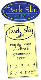 Dark Sky Cafe Card