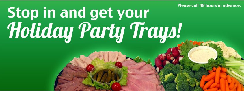 Convenient Food Mart Holiday Party Tray