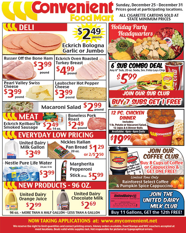 December 25 weekly ad