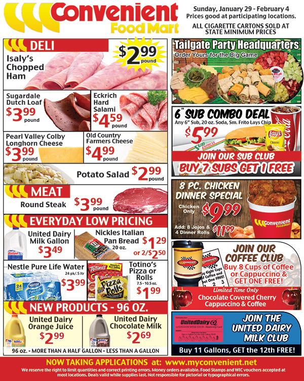 Weekly Ad for January 29, 2017