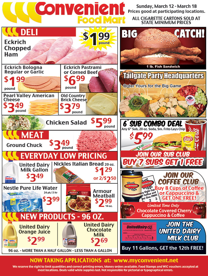 Convenient Food Mart Weekly Ad March 12