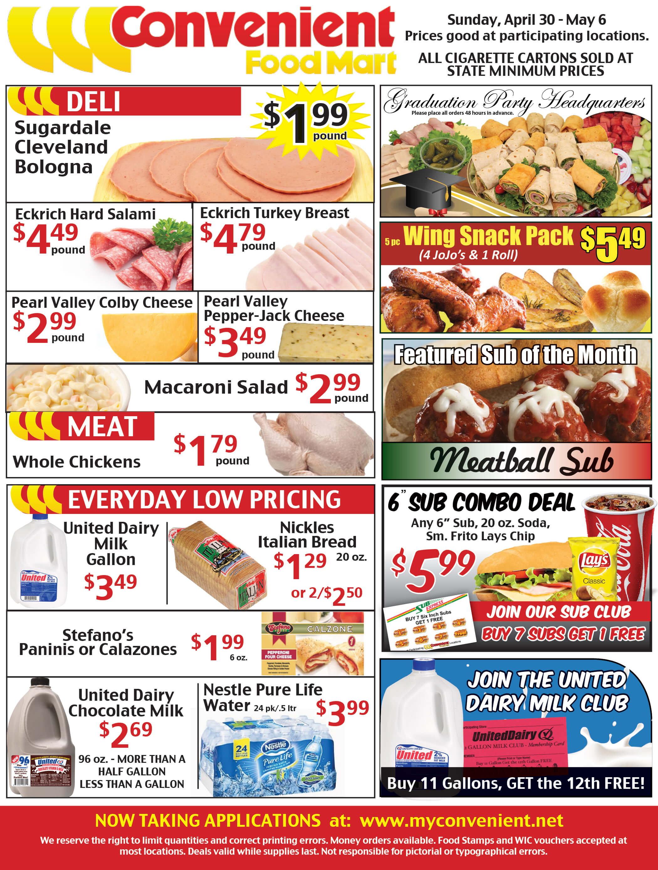 Convenient Food Mart Weekly Ad for April 30 to May 6