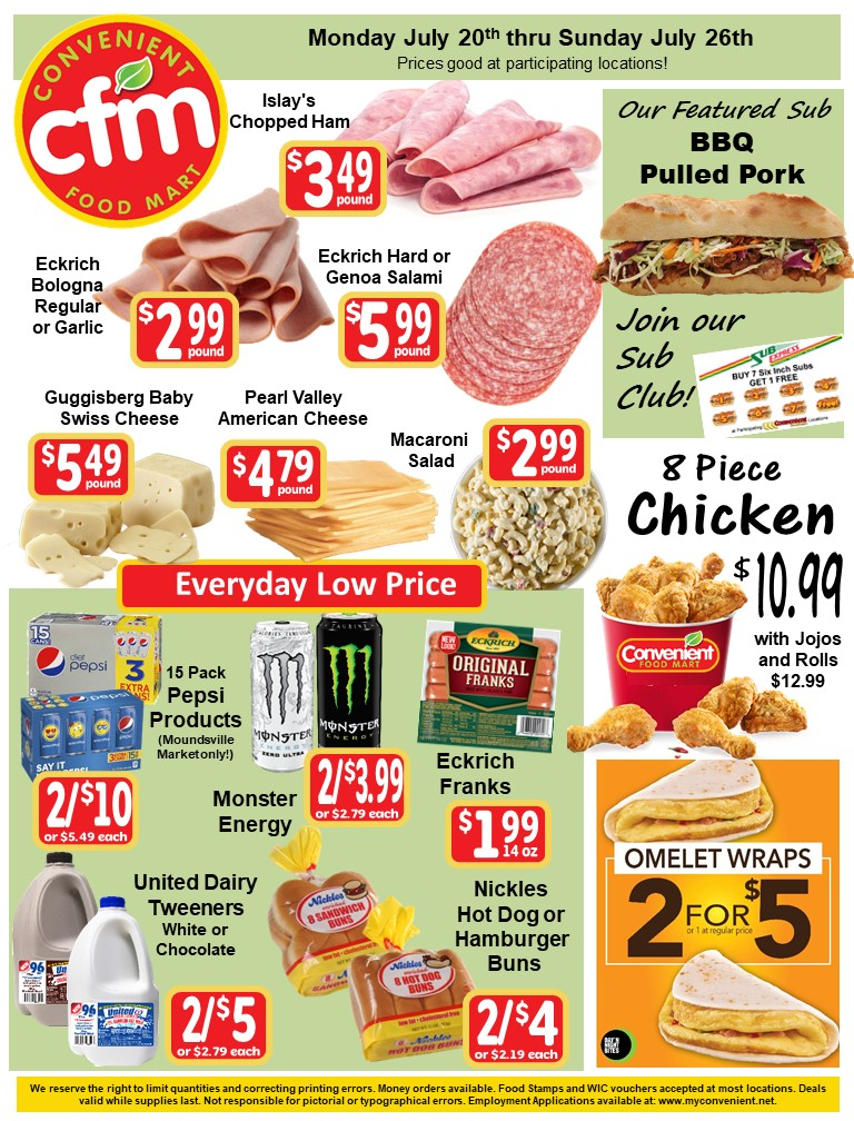Convenient Weekly Ad July 20th
