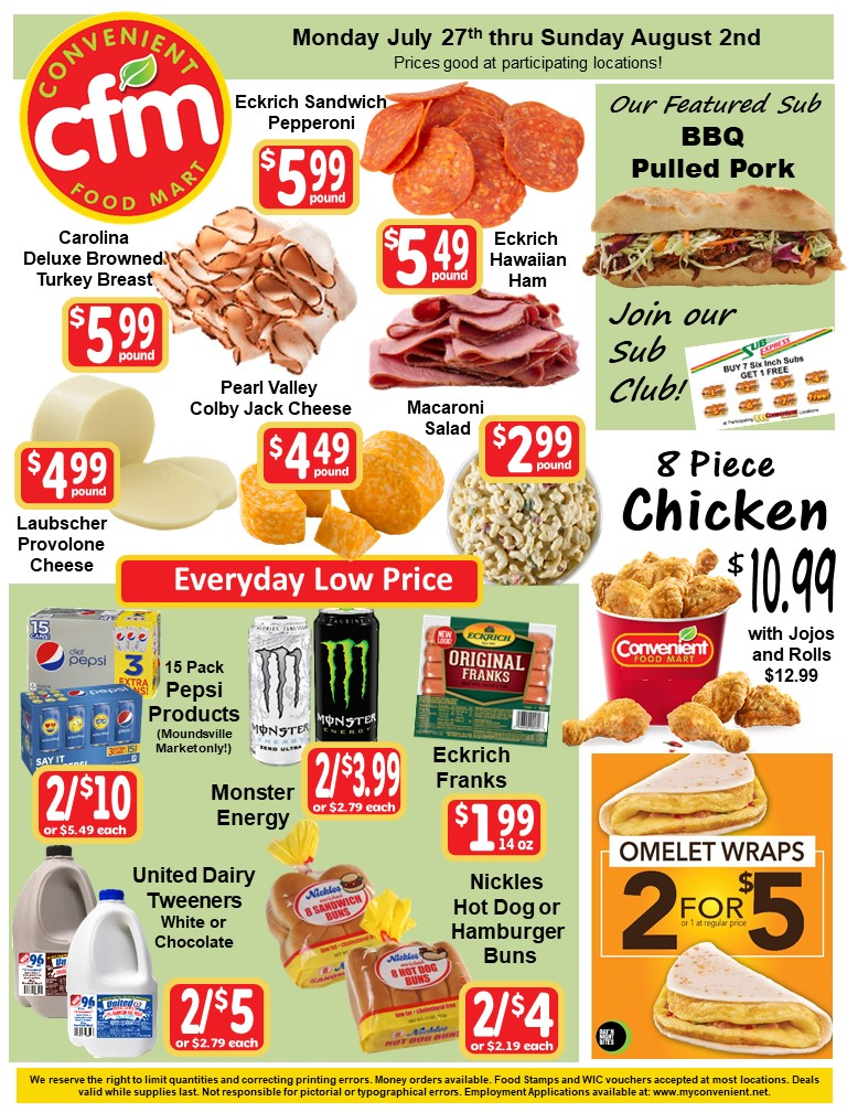 Convenient Weekly Ad July 27th