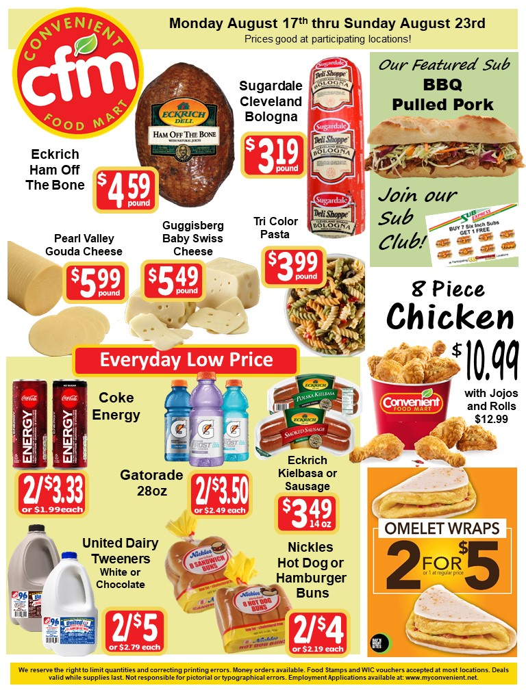Convenient Weekly AD August 17