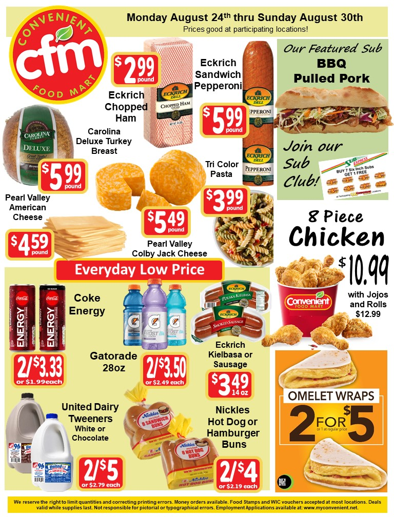 Convenient Weekly AD August 24