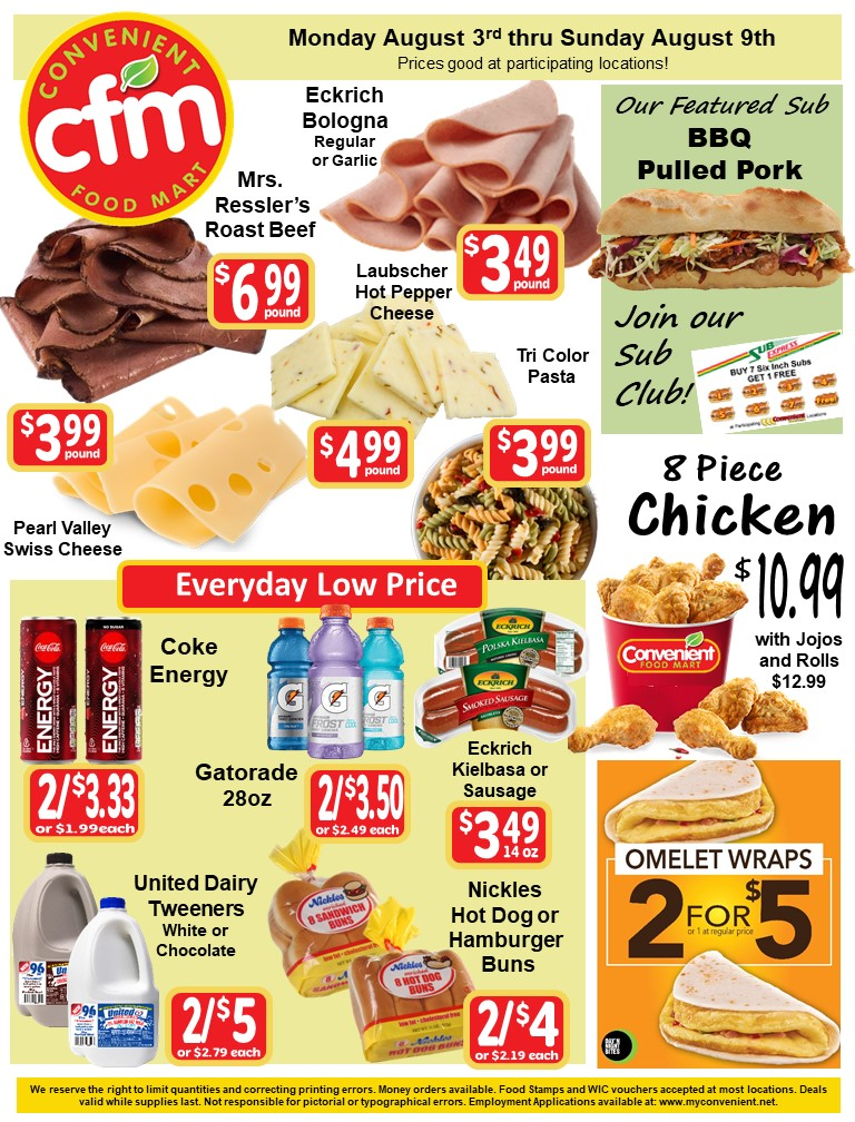 Convenient Weekly AD August 3